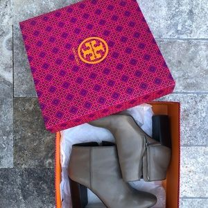 Tory Burch Taupe Booties with Heel